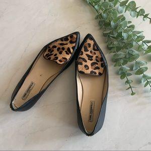 Karl Lagerfeld Leopard & Leather Destine Loafer